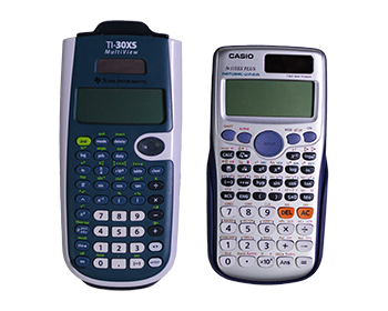 One casio and one texas instrument scientific calculators